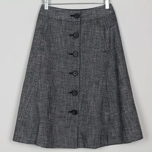 Banana Republic Skirt Button Front Heather A Line